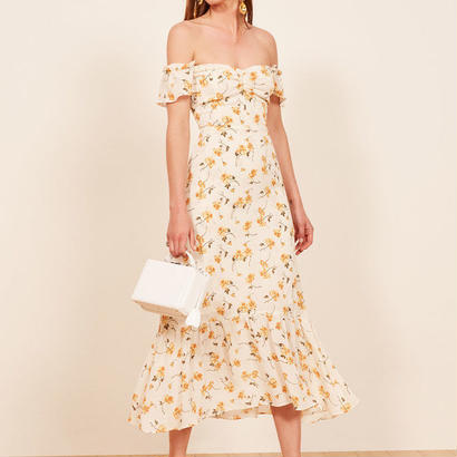REFORMATION(リフォーメーション) floral dress ワンピース 定価$248