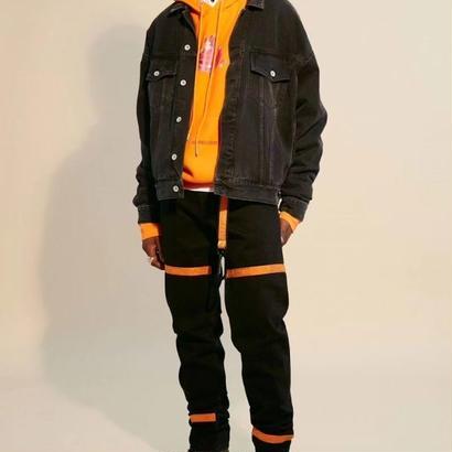 Heron Preston(ヘロンプレストン) Black Parachute Denim Jacket デニムジャケット 定価$750