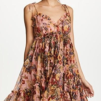 zimmermann ジマーマン Lovelorn Silk Floral Babydoll Dress ワンピース 定価$795