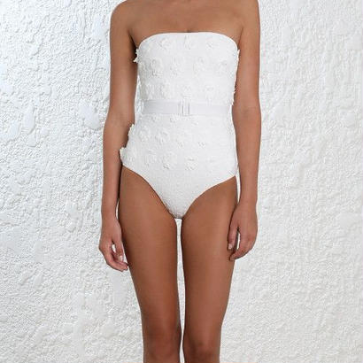 Zimmermann ジマーマン Lumino Daisy One Piece Swimsuit, White 定価$530