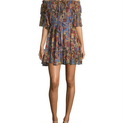 zimmermann ジマーマン Lovelorn Silk Frill Mini Dress ワンピース 定価$795