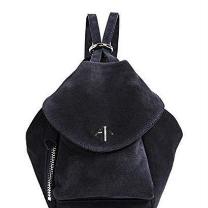 MANU atelierマニュアトリエ Red fernweh Mini suede backpack $584バッグ ブラック