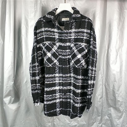 FAITH CONNEXION  FAITH CONNEXION フェイスコネクション Oversized Tweed Shirt シャツ 定価$1000