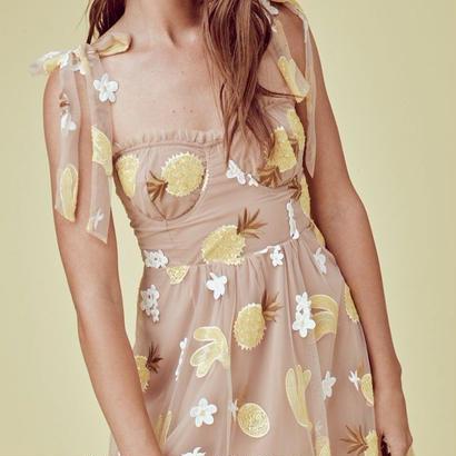 for love & lemons    FRUITPUNCH SEQUIN MINI DRESS  ワンピース $264