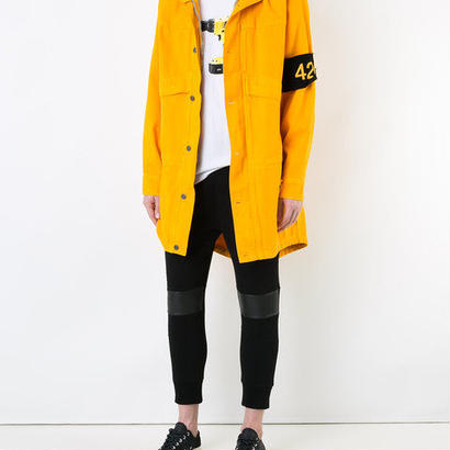 424 harm patch hooded jacket