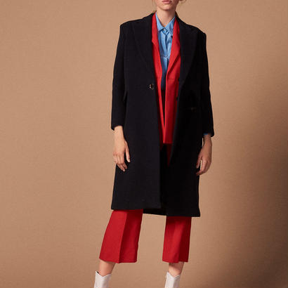 sandro サンドロ    COAT WITH VELVET BELT コート$790
