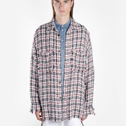 FAITH CONNEXION  Multicolor Tweed Overshirt 定価$1028