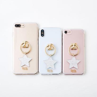 【iPhoneX,7-8plus,6-8対応】スターリング iPhoneケース(リングスタンド機能付)