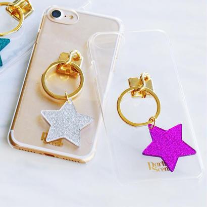 【iPhoneXR,X,XS,7-8plus,6-8対応】スターリング iPhoneケース(リングスタンド機能付)