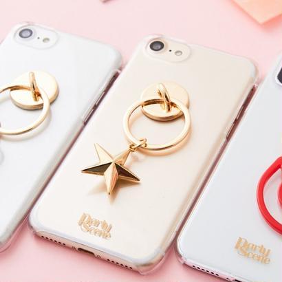 【iPhoneX,7-8plus,6-8対応】ゴールドスター iPhoneケース