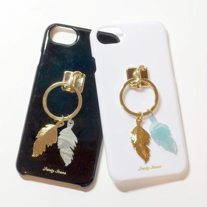 フェザーリング  iPhoneケース (リングスタンド機能付)