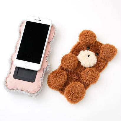 【iPhone,スマホ対応】ぬいぐるみ iPhoneケース