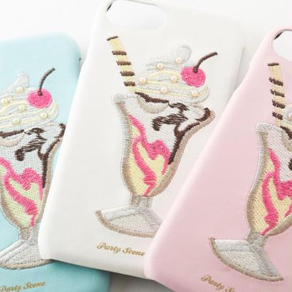 パフェ刺繍 iPhoneケース