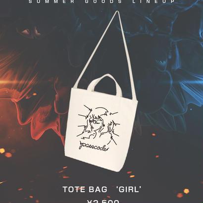 """【PassCode】TOTE BAG """"GIRL"""""""