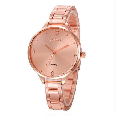 ファッション女性腕時計 クリスタルステンレス鋼アナログクォーツ腕時計 ブレスレット 160