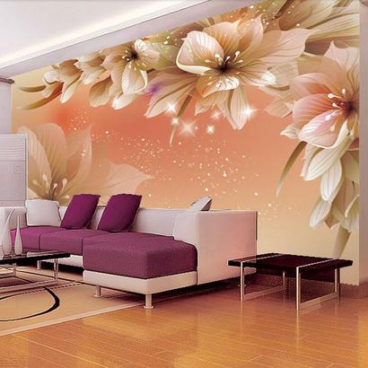 3D 写真壁紙 花の壁画 壁紙 リビングルーム ソファ テレビ 背景不織布壁紙 寝室 7/17 499