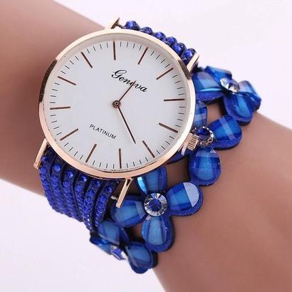 ファッションジュネーブクリエイティブ腕時計 女性カジュアルエレガントクォーツブレスレットレディース 132