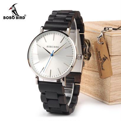 ボボ鳥 木製バンド腕時計 クォーツ時計 92