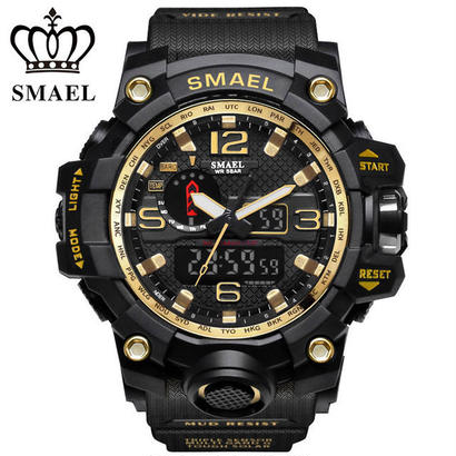SMAEL wateproof スポーツメンズ腕時計 トップブランドのLEDデジタル腕時計 ミリタリー陸軍腕時計 20