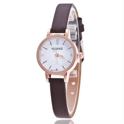 レディース腕時計 スタイリッシュ シンプルカジュアル ベルトラインストーンベルト腕時計 146