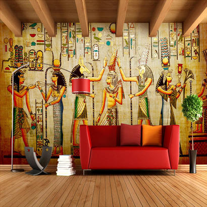 カスタム壁紙 モダンラグジュアリー 3D 壁紙壁画 ホームインテリア エジプト壁画 510 7/17