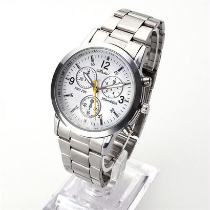 ステンレススチールウォッチ アナログクオーツ レジャースポーツ ビジネススチールストリップ腕時計 94