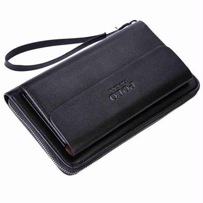 Vicuna 大容量ビジネス革メンズクラッチハンドバッグ カジュアル大きなクラッチ財布 男のバッグ 459 7/10