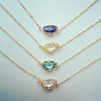 glass stone necklace