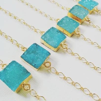 限定blue Druzy bracelet