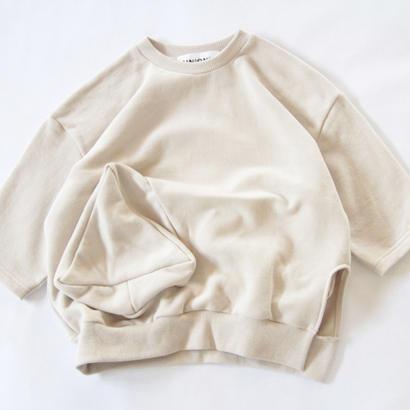【 UNIONINI 2017AW】 PO-016 ◯△ pullover / Cream / size L1 ,L2