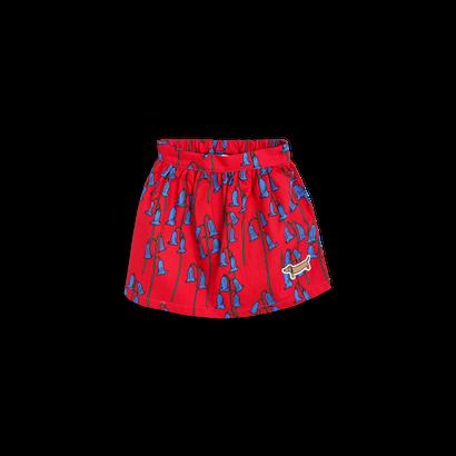 【 mini rodini 2017AW】BLUEBELL WOVEN SKIRT / Red