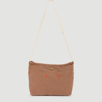【 THE ANIMALS OBSERVATORY 2017AW 】000642 CANVAS SHOULDER BAG  / BROWN