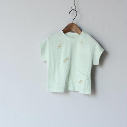 """【 ミナペルホネン 18SS 】 """"choucho """" Tシャツ / mint  / 90〜100cm   (WS8852P)"""