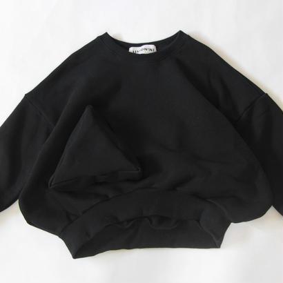 【 UNIONINI 2017AW】 TR-019 ◯△ sweat shirt / Black / size 3, 4