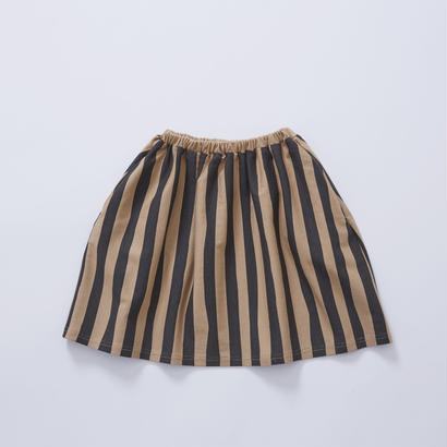 【cokitica 2017AW】cka-172J41  cokitica stripe bloomers  / camel  /  90-100cm - 110-120cm