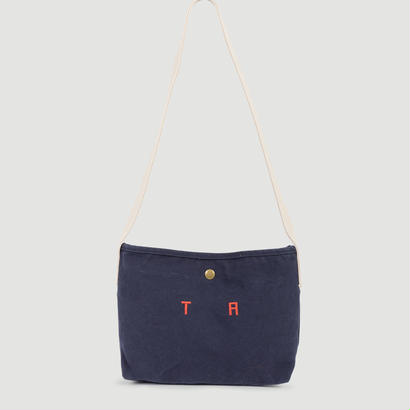 【 THE ANIMALS OBSERVATORY 2017AW 】000642 CANVAS SHOULDER BAG  / NAVY