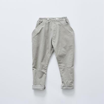 【cokitica 2017AW】cka-172F16sarrouel corduroy pants / light gray / 90-100cm