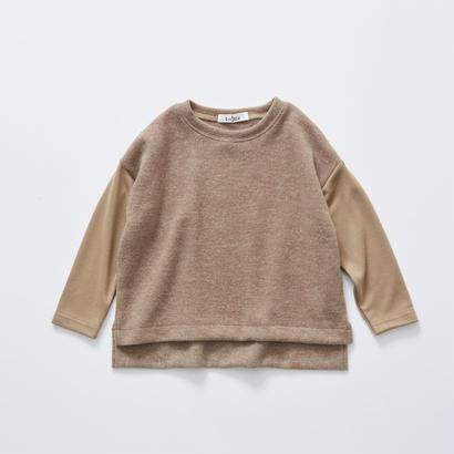 【cokitica 2017AW】cka-172J28melange tops / camel / 80-100cm