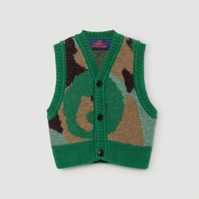 【【 THE ANIMALS OBSERVATORY 2017AW 】000617 BAT / Green x Brown / 18m(80-85cm)