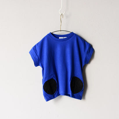 【 franky grow 2018SS 】RING MATELASSE 2DOTS TEE / BLUE