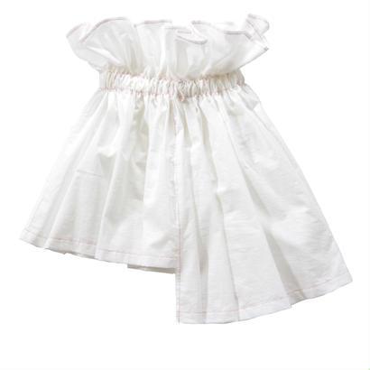 【 UNIONINI 18SS 】 asymmetry skirt / white  / 80〜140cm   (SK-002)