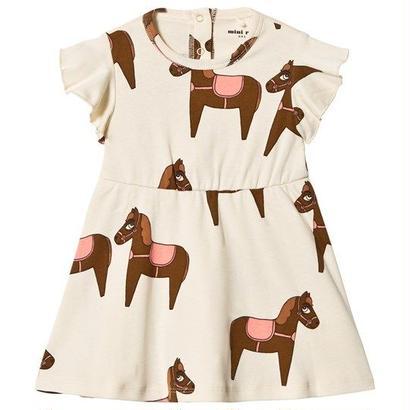 【 mini rodini 2018SS 】Horse dress/ pink
