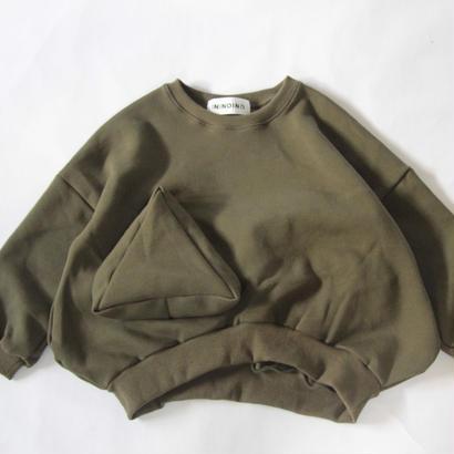 【 UNIONINI 2017AW】 TR-019 ◯△ sweat shirt / Olive / size L1