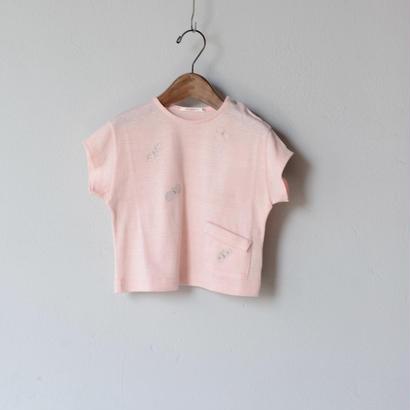 """【 ミナペルホネン 18SS 】 """"choucho """" Tシャツ / pink  / 90〜100cm   (WS8852P)"""