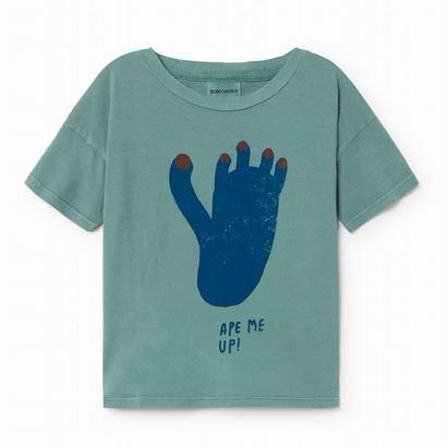 【 Bobo Choses 2018SS 】118009 Footprint shortsleeve t-shirt