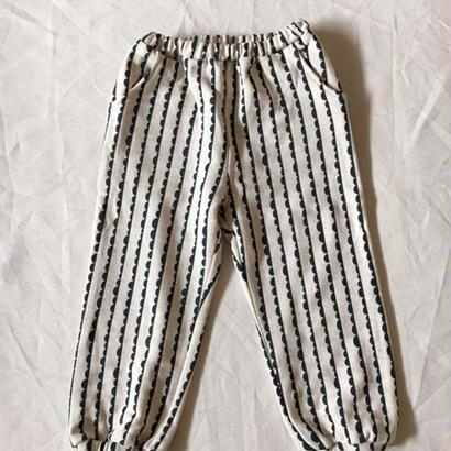 【 folk made 2017AW】#07 nami-nami print pants /  オートミールプリント