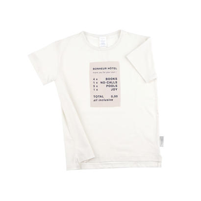 【 tiny cottons 2018SS 】SS18-110 'ticket' SS relaxed graphic tee / off-white/stone/navy
