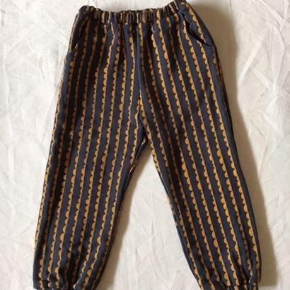 【 folk made 2017AW】#07 nami-nami print pants /  チャコールグレープリント