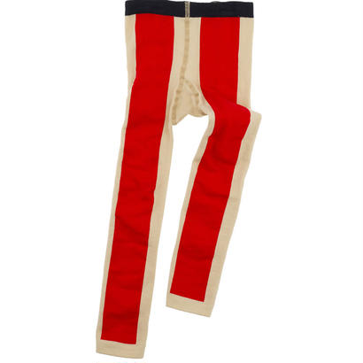 【tiny cottons 2017AW】AW17-353 long line leggins / beige / red