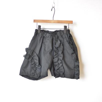 【 UNIONINI 18SS 】 frill short pants / black  / 90〜140cm   (PT-049)